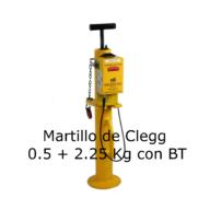 Martillo de Clegg de 0.5 + 2.25 Kg con BT