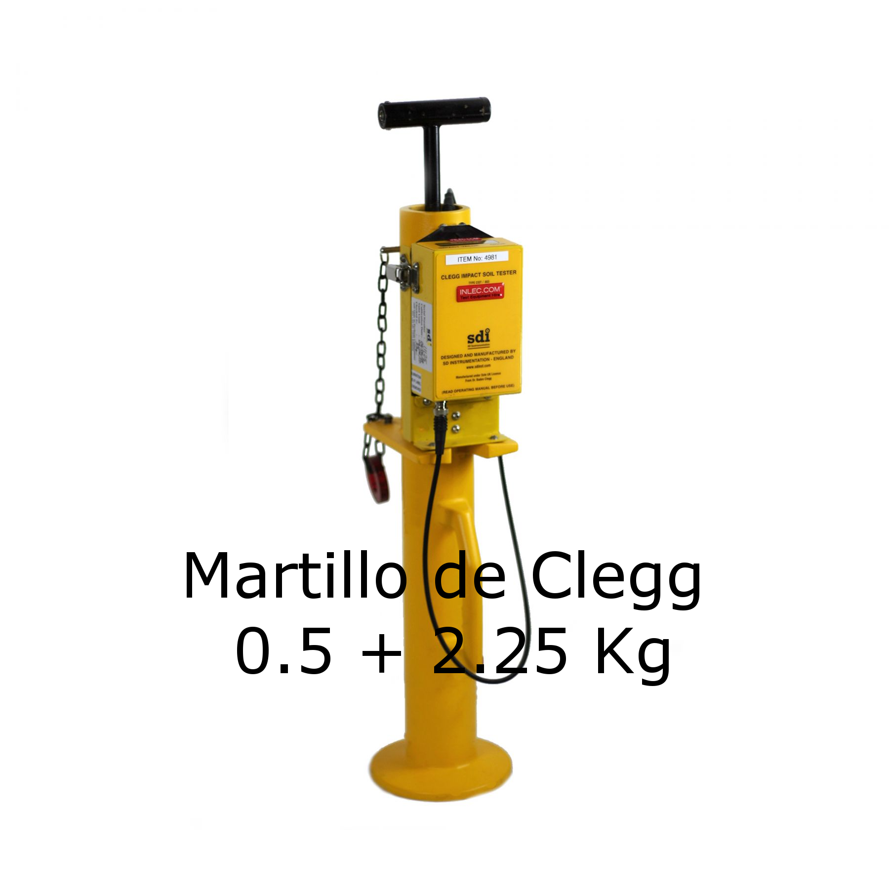 Martillo de Clegg de 0.5 + 2.25 Kg