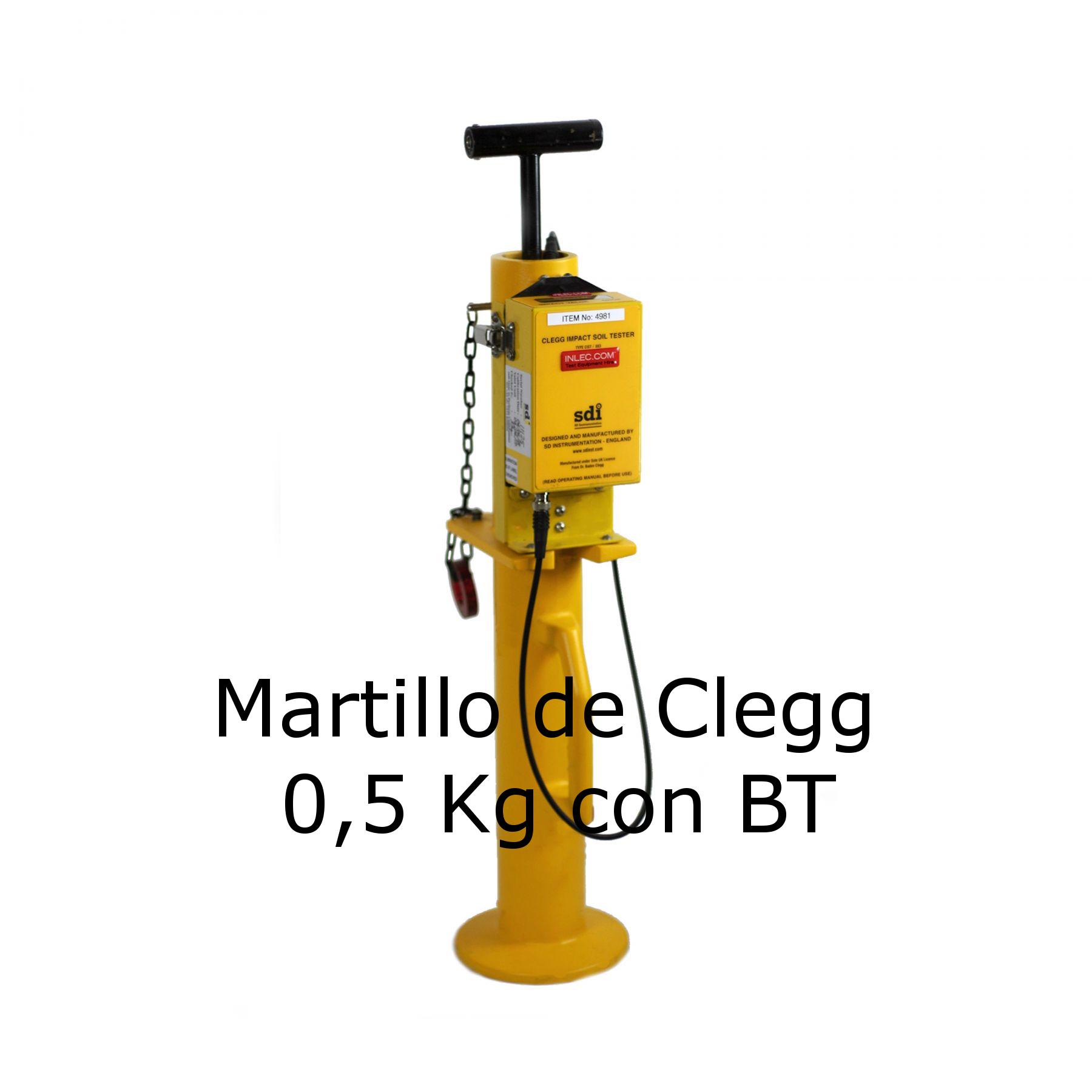 Martillo de Clegg de 0,5 Kg con BT