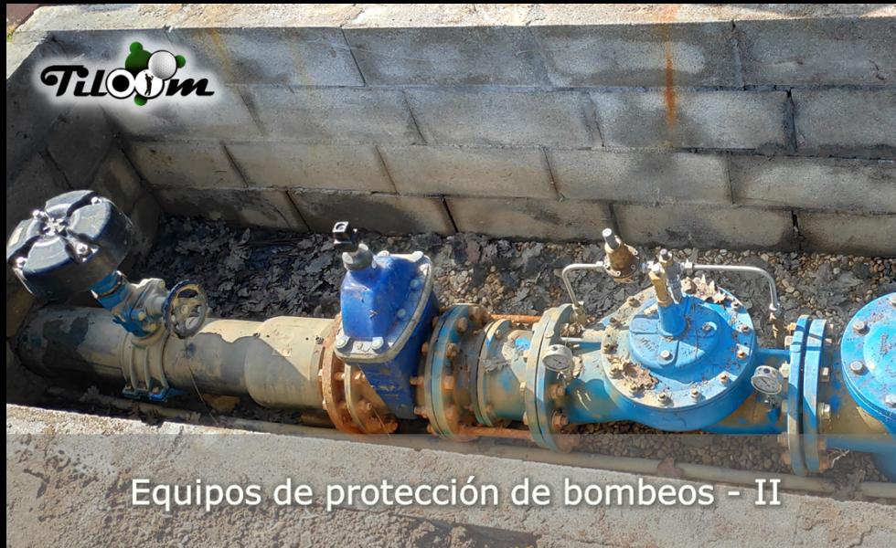 Elementos de protección de la red de riego.