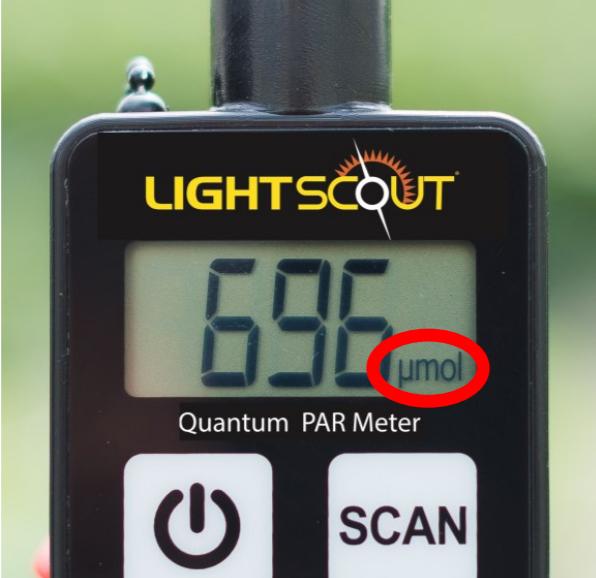 detalle de sensor PAR