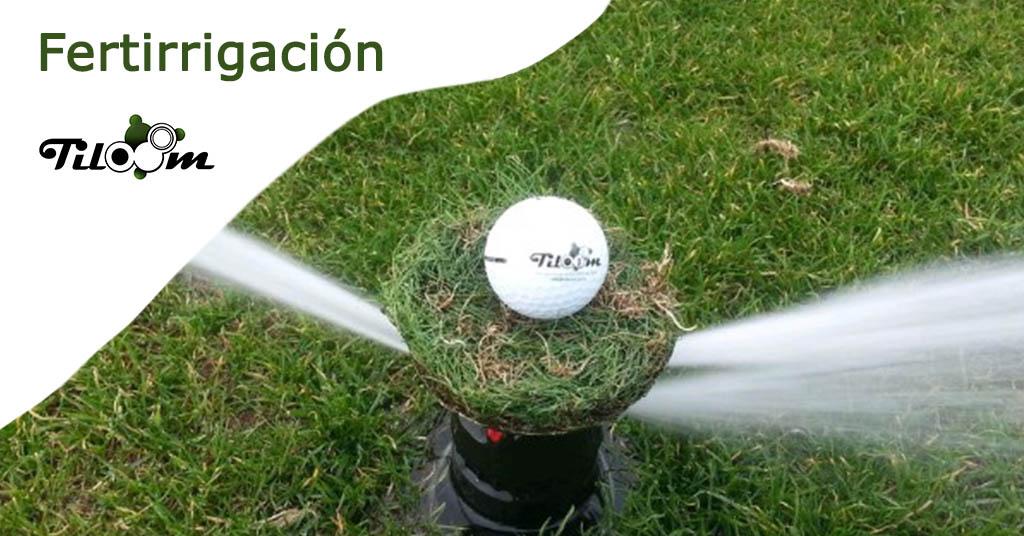 Fertirrigación en campos de golf